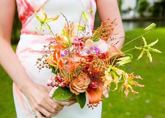 Bruidsbloemen trouwbloemen boeketten